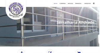 Website Serralheria Andrade